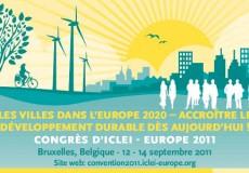 Les villes dans l'Europe de 2020: accroître la durabilité dès maintenant!